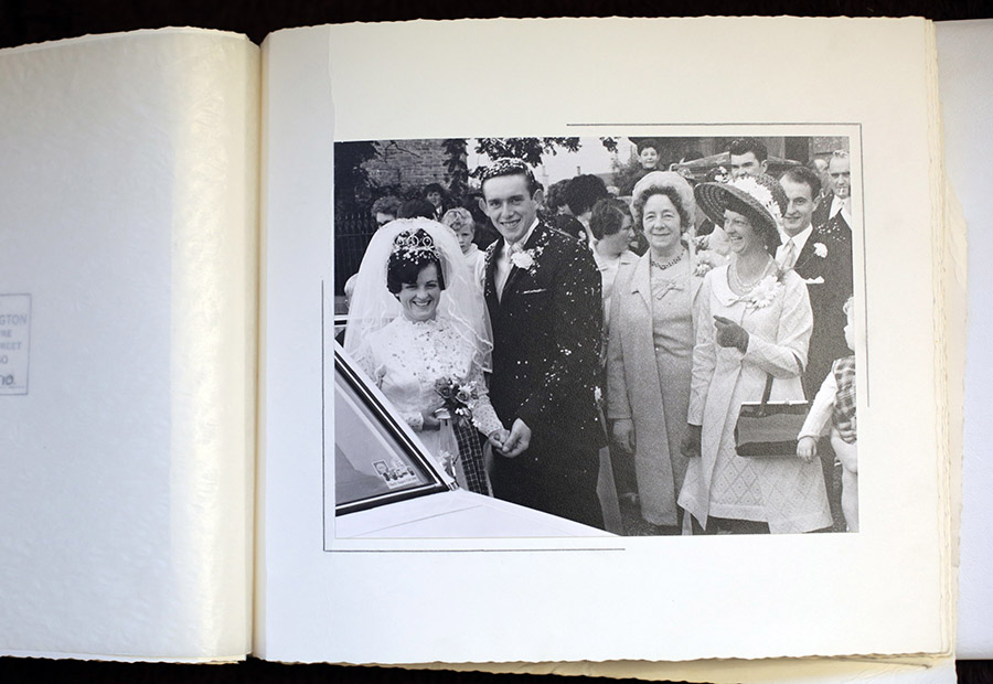 Parents wedding album